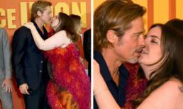 """Khoảnh khắc Brad Pitt """"đứng hình"""" khi bị người đẹp """"đồ sộ"""" đòi hôn môi"""