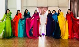 NTK Đức Hùng chuẩn bị trang phục áo dài cho thí sinh Miss World Việt Nam 2019