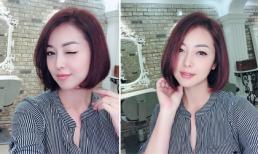 Vừa thông báo mang bầu lần 4, Hoa hậu Jennifer Phạm đã lột xác với tóc ngắn trẻ trung