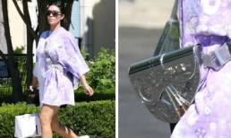 Lên đồ giản dị với mốt giấu quần nhưng Kim Kardashian lại thể hiện đẳng cấp khi xách túi gần tỷ đồng