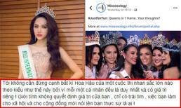 Hương Giang lên tiếng khi bị chuyên trang Missosology ghép nửa mặt trong dàn Hoa hậu