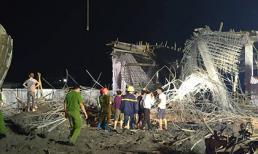 Hải Phòng: Sập giàn giáo công trình cây xăng, 8 người mất tích và bị thương