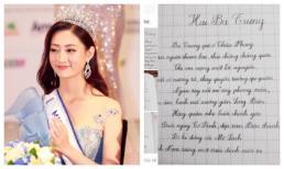 Không chỉ xinh đẹp và sở hữu thành tích học tập khủng, Hoa hậu Lương Thuỳ Linh còn gây bất ngờ vì nét chữ