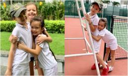 3 nhóc tì lai tây của Hồng Nhung và Đoan Trang thân thiết như anh em một nhà