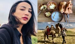 Ngọc Diễm học làm trà sữa, cưỡi lạc đà ở Mông Cổ