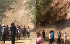 Lai Châu: Đứng xem núi lở, hàng chục người suýt bị đất đá chôn vùi