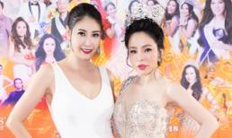 Hoa hậu Hạ My đọ dáng quyến rũ bên Hoa hậu Hà Kiều Anh