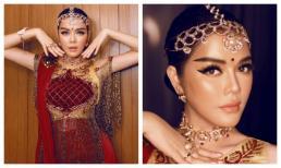 Diện trang phục haute couture truyền thống Ấn Độ, Lý Nhã Kỳ hút hồn với khí chất vương giả