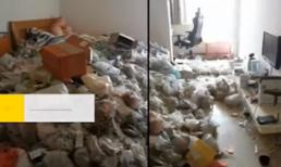 Bãi rác siêu to khổng lồ của gái xinh ở bẩn khiến chủ nhà thất kinh