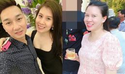 Bà xã của MC Thành Trung lộ thân hình phát tướng, mặt xuống sắc khi mang thai