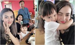 'Mẹ đơn thân' Hồng Quế cùng gia đình sang Trung Quốc đón tuổi 25