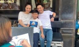 Chuyến đi đầu tiên sau đám cưới, Đàm Thu Trang và Subeo bị phát hiện giống nhau đến lạ