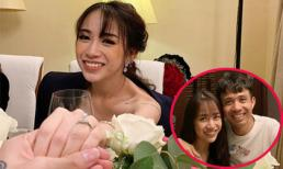 Con gái Minh Nhựa khoe nhẫn kim cương cỡ lớn và tiết lộ đã được bạn trai cầu hôn