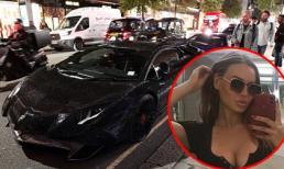 Người mẫu Nga gây náo loạn đường phố London với siêu xe Lamborghini phủ 2 triệu viên pha lê