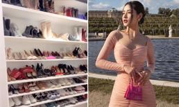 Chi Pu gây choáng với tủ đồ hiệu gần 100 đôi giày