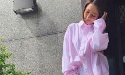 Mặc áo rộng, đi giày đế bằng Lâm Tâm Như lại dính nghi vấn mang bầu lần 2