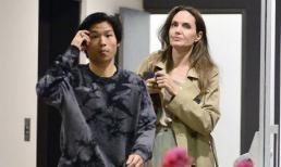 Angelina Jolie tìm niềm an ủi bên con trai gốc Việt sau khi 'nén nước mắt' đưa Maddox sang Hàn học tập