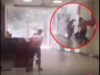 Cuồng phong kinh hoàng tấn công chung cư Linh Đàm, nam thanh niên bị thổi bay