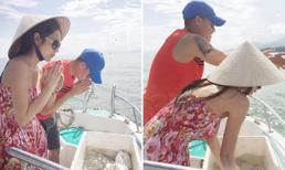 Thủy Tiên đáp trả đanh thép vì bị mỉa mai cố diễn khi thả cá phóng sinh