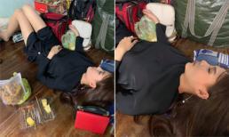 Bị đồng nghiệp chụp lén lúc ngủ, Thúy Diễm chứng minh nhan sắc 'dìm vẫn không bị chìm'