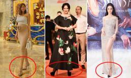 'Thót tim' với loạt mỹ nhân Việt đi giày cao gót lênh khênh dù bụng bầu vượt mặt