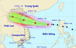 Bão số 4 giật cấp 12, dự kiến đổ bộ các tỉnh từ Thanh Hóa đến Quảng Bình dịp lễ 2/9