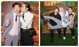 Dàn sao 'Chạy đi chờ chi' hội ngộ: BB Trần vừa cưỡng hôn vừa hợp lực cùng Liên Bỉnh Phát bế bổng Ngô Kiến Huy