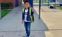Ngày đầu đến trường, con trai Thanh Thảo không được cô cho vào lớp vì lí do đáng yêu