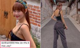Đăng ảnh cùng gia đình vi vu ở Hàn Quốc, Minh Hằng bị anti-fan chê 'mặc cũng như không'