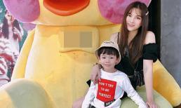 Thu Thuỷ bất ngờ đăng ảnh tình cảm cùng con trai sau thời gian khủng hoảng vì scandal