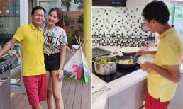 Cựu người mẫu Vũ Thu Phương khiến hội chị em ganh tỵ khi khoe chồng đại gia đảm đang