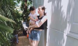 Vẫn mập sau sinh, Hoàng Oanh 'Next top' tự nhủ: 'ba có bỏ mẹ theo gái, không sao'