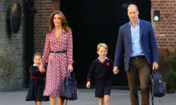 Vợ chồng Công nương Kate đích thân đưa Công chúa Charlotte tới trường có học phí gần 600 triệu đồng trong ngày đầu tới lớp