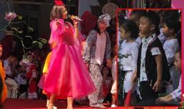 Chí Nhân đăng ảnh vợ cũ Thu Quỳnh hát trong ngày khai trường của con trai