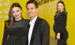 Miranda Kerr xinh đẹp bế bụng bầu lần ba đến ủng hộ chồng tỷ phú