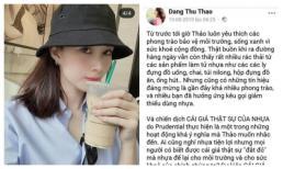 Hoa hậu Đặng Thu Thảo bị dân mạng bóc mẽ dùng đồ nhựa lại mạnh miệng kêu gọi hạn chế dùng đồ nhựa