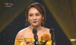 Bảo Thanh nói gì khi vượt mặt Thu Quỳnh nhận giải Diễn viên ấn tượng của VTV Awards 2019