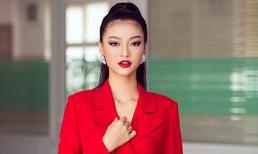 Diện vest đỏ cá tính, Á hậu Kiều Loan ngày càng khẳng định nhan sắc nữ thần