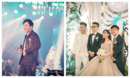 """Trấn Thành làm MC, Ưng Hoàng Phúc và Phạm Quỳnh Anh hát mở màn lễ cưới ở 'lâu đài trong mơ"""" của con gái đại gia Minh Nhựa"""