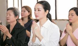 Hoa hậu Đền Hùng Giáng My làm lễ cúng 49 ngày cho bố, hứa sẽ chăm sóc mẹ thật tốt