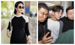 Diệp Lâm Anh kín đáo, 'vác' bụng bầu đi đón tài tử Ji Chang Wook