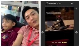 Cường Đô la tự khen con trai ngày càng giống bố, Đàm Thu Trang lại chia sẻ khoảnh khắc độc của chồng