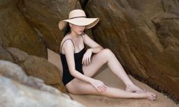 'Gái 2 con' Ngọc Thạch diện đồ bơi một mảnh khoe dáng nuột nà