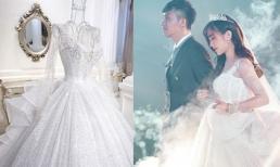 Cận cảnh 3 chiếc váy cưới trị giá khủng của con gái Minh Nhựa