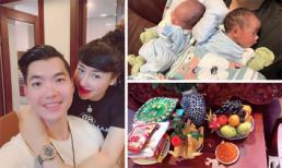 Vợ chồng Trương Nam Thành tổ chức đầy tháng cho cặp song sinh