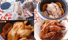 Cho 1 con gà + 1 quả cam vào nồi cơm điện, thành phẩm khiến bạn phải chảy nước miếng