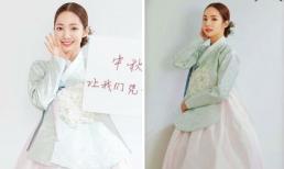 'Thư ký Kim' Park Min Young diện hanbok xinh ngất ngây dịp Tết Trung thu