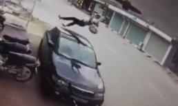 Chạy xe ngược chiều, nữ sinh bị ô tô hất văng lên không trung