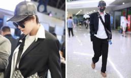 Tình địch một thời của Phạm Băng Băng 'xuống tóc', ăn mặc như đàn ông tại sân bay