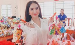 Hot girl Trần Đoàn bỏ tiền túi 150 triệu đồng mua quà trung thu tặng trẻ em nghèo